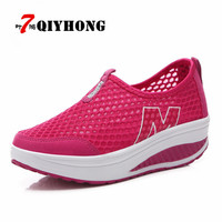 Hot Sales New Femme Summer Zapato Women Breathable Mesh Zapatillas Shoes Women Network Soft Casual Shoes