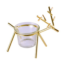 European Candle Holders Golden Christmas Deer Glass Candlestick Nordic Aromatherapy Cup Home Guest Restaurant Home50x148