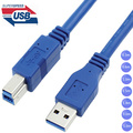USB 3.0 A Male AM to USB 3.0 B Type Male BM USB3.0 Cable 0.3m 0.6m 1m 1.5m 1.8m 3m 5m 1ft 2ft 3ft 5ft 6ft 10ft 30cm 1 3 5 Meters
