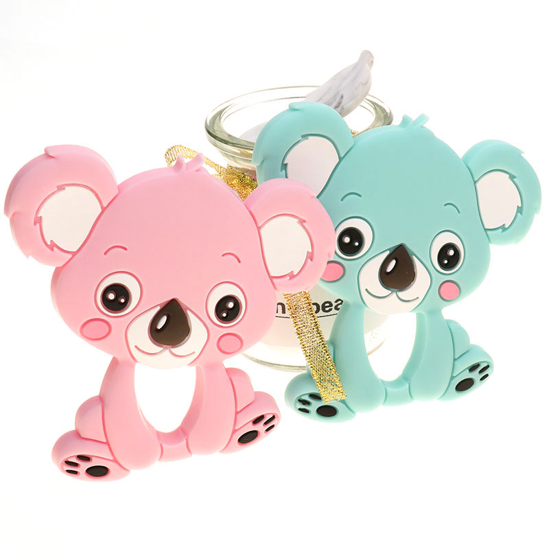Wholesale 10pc Koala Silicone Baby Teether Animal Bear Bpa Free Newborn Teething Necklace Pendant Accessories DIY Christmas Gift