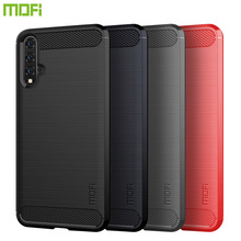 MOFi For Huawei Nova 5 Case Cover Shockproof Carbon Fiber Soft TPU Anti-Knock Cases Capa Coque
