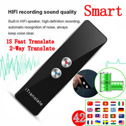 Smart Instant Voice 42 Languages Translator Real Time Intercom Portable Voice & Text Translator For iOS & Android Phone