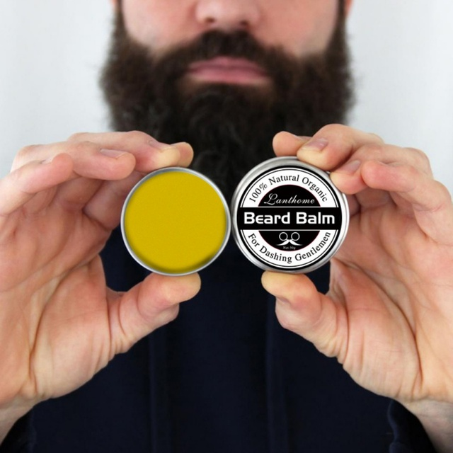 25g Natural Men Beard Wax Balm Organic Conditioner Leave in Styling Moisturizing Effect Beard Care