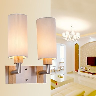 Oak and Glass Modern LED Wall Lamp Light With 2 Lights For Bed Living Room Home Lighting ,LED Wall Sconce Free Shipping bedside wooden wall lamp wood glass aisle wall lights lighting for living room modern wall sconce lights aplique de la pared