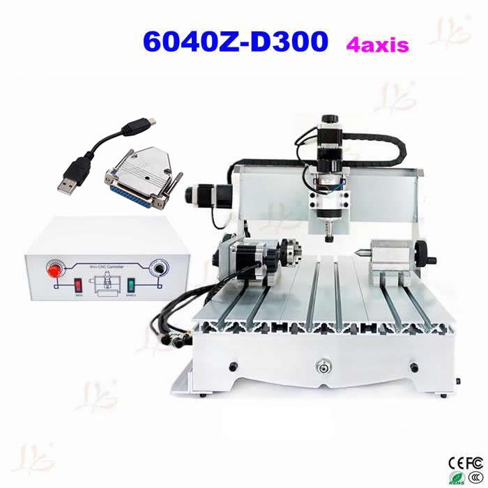 USB mini CNC 6040Z 3D CNC wood carving machine for woodworking cnc router wood milling machine cnc 3040z vfd800w 3axis usb for wood working with ball screw