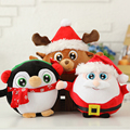 Free Shipping  Freeshipping! Santa Claus doll doll cute cartoon Penguin Plush Toy elk Christmas Gift Girl Doll