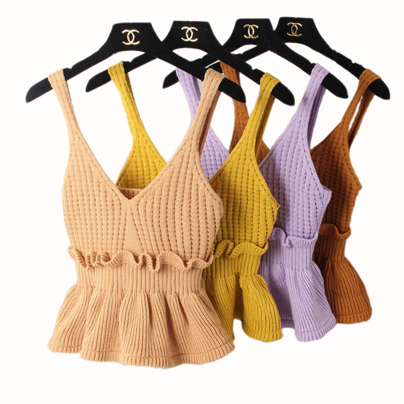 Hétköznapi horgolt felső, alkalmi horgolt felső, rövid vékony - Női ruházat