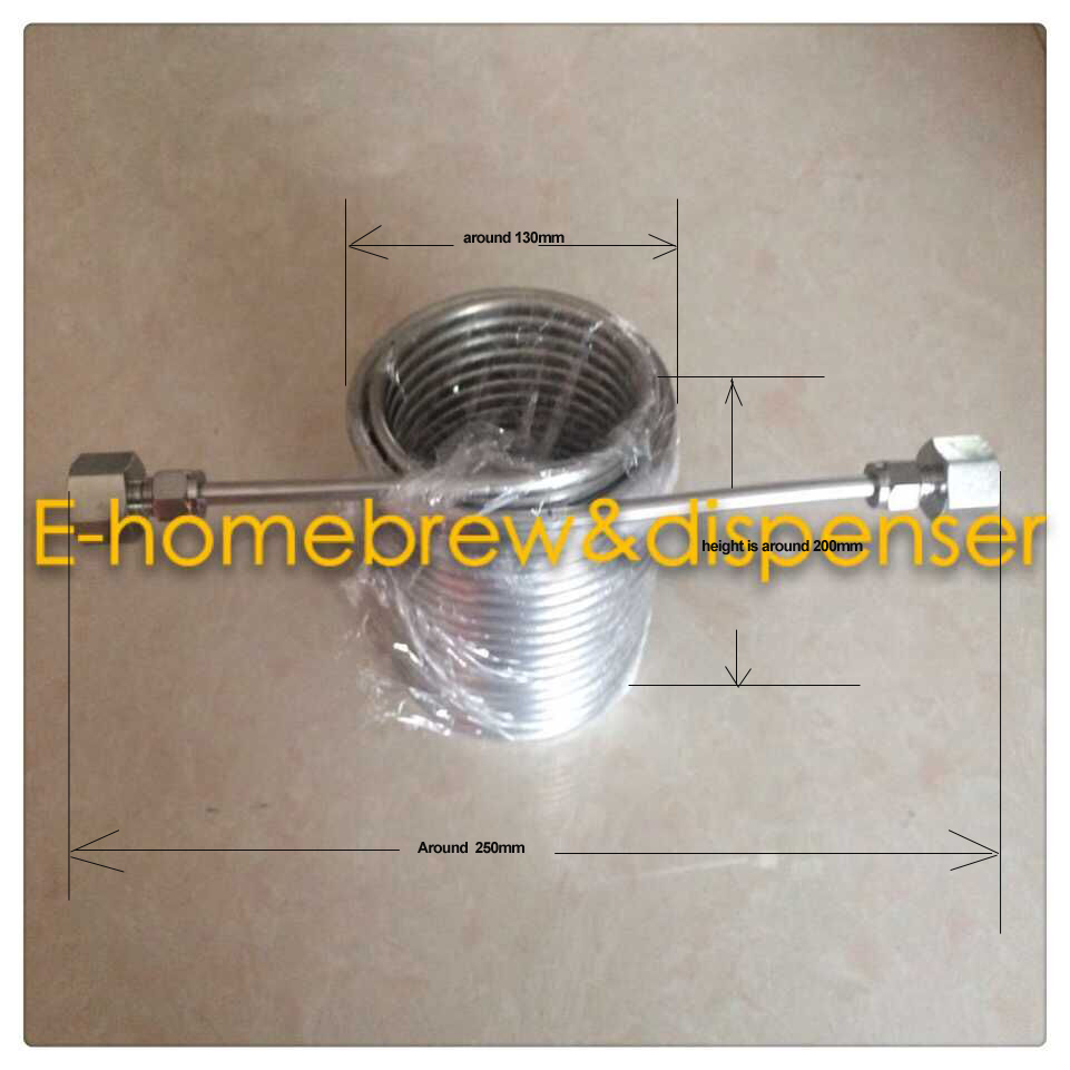 15meters Stainless Steel Coil 5 Diameter beer coil cooler for your homebrew make jockey with 5