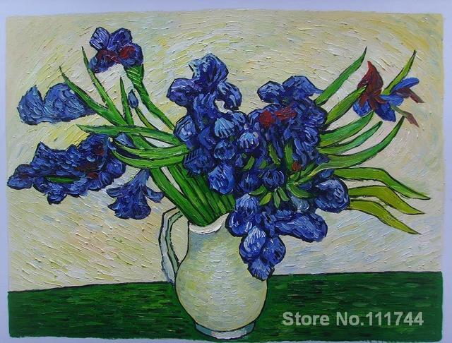 Famosa arte per la camera da letto Vaso di Iris di Vincent Van Gogh ...