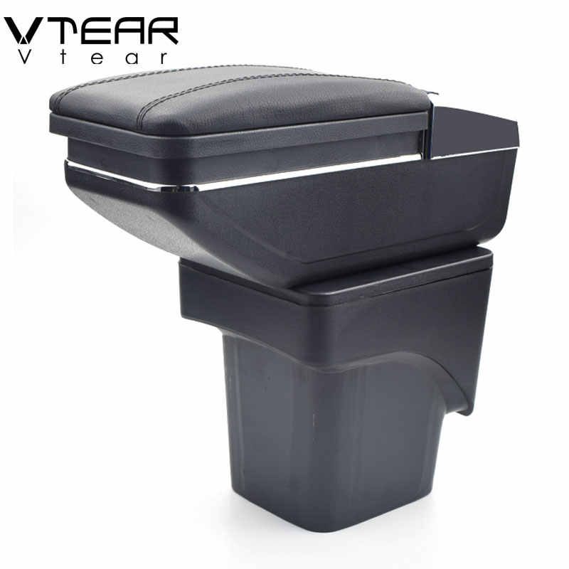 Vtear For Ford Focus 2 armrest box central Store mk2 content box products interior Armrest Storage car-styling accessories parts