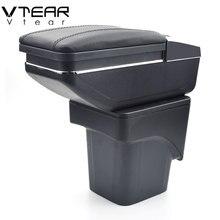 Vtear для Ford Focus 2 подлокотник коробка центральный магазин mk2 содержимое коробки продуктов интерьера подлокотник хранения автомобиль-Стайлинг Аксессуары части