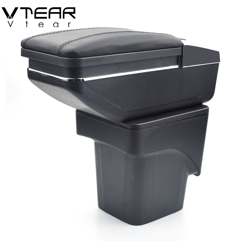 Vtear Pour Ford Focus 2 boîte accoudoir central Magasin mk2 contenu boîte produits intérieur Accoudoir De Stockage de voiture accessoires de coiffure pièces