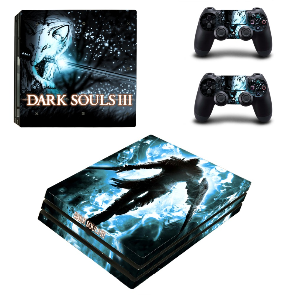 PS4 Pro DARK SOULS III Skin Sticker Cover For Sony Playstation 4 Pro Console&Controllers Skins