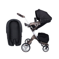 Douxbebe high landscape stroller hand can sit reclining folding shock absorber multi function baby stroller