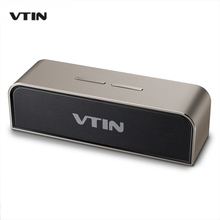 VTIN Bluetooth Speaker Portable Wireless Speaker Housing Music Speakers Sound System with Passive Radiator  with Mic