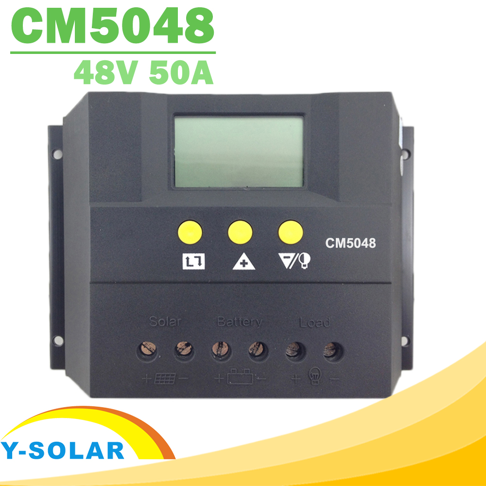 PWM 50A Solar Charge Controller 12V 24V 48V Solar Battery Charger Regulator LCD Display Charging for Lighting DC12V 24V / DC48V 50a 12 24v solar regulator charge controller lcd screen solar controller new