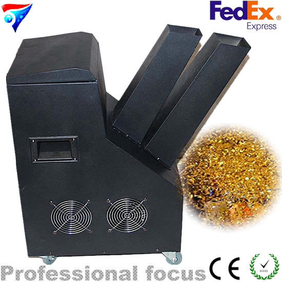 Hot Sale 1000W Confetti Machine Wih Remote Control For Wedding,Stage Specal Effects,Disco Party Effects,DJ Equipemnts hot 1500w confetti machine rainbow machine entertainment open air concert theater american dj stage effects