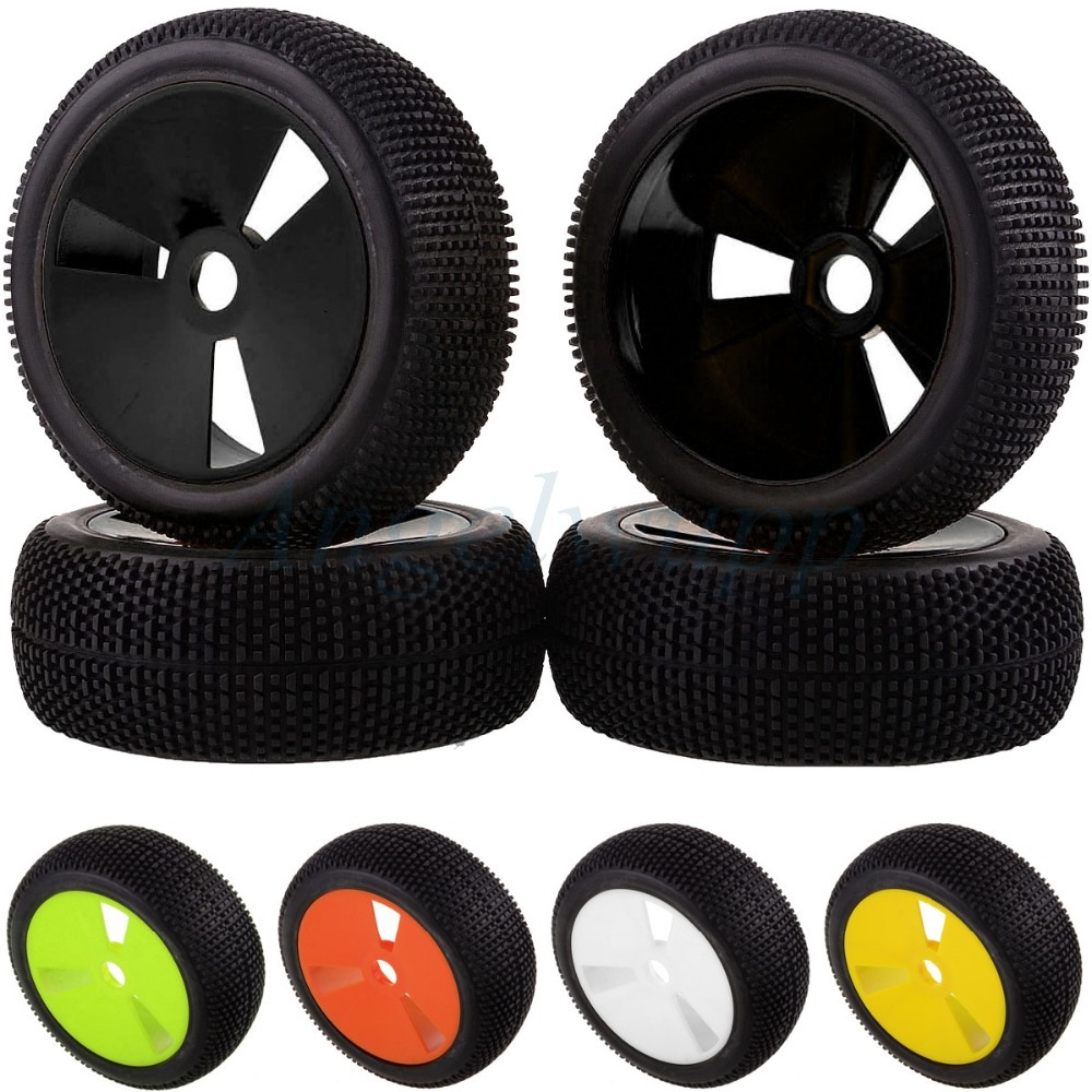 4PCS RC 1/8 OFF-ROAD BUGGY Wheel Rim & Tyre Tires 83-806 For HSP RedCat Racing 4pcs rubber rc racing tires car on road wheel rim fit for hsp hpi 1 10 high quality rc car part diameter 68mm tires