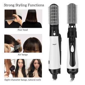 Image 1 - Профессиональный фен для волос 2 в 1 Расческа для горячего воздуха Улучшенный выпрямитель для волос расческа для волос щипцы для завивки стайлер большой волны щипцы