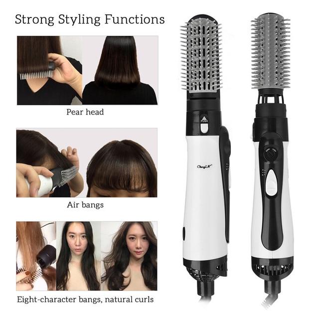 Профессиональный фен для волос 2 в 1 Расческа для горячего воздуха Улучшенный выпрямитель для волос расческа для волос щипцы для завивки стайлер большой волны щипцы