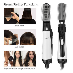 Image 2 - 2 in 1 Professional Hair Dryer Brush Straightner Curler Comb Styling Tool Hairdryer Curling Blower Dryer Hair Electric Wave