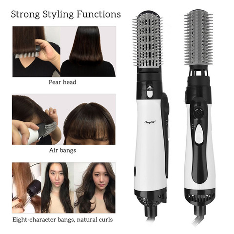 profissional 2 em 1 secador de cabelo escova de ar quente enhanced alisador cabelo pente