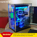 Qdiy a009-pc atx caixa do computador caixa do computador caso pc refrigerado a água acrílico transparente