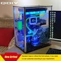 Qdiy refrigerado por agua pc-a009 atx caja de la computadora caja de la pc transparente de acrílico caja de la computadora