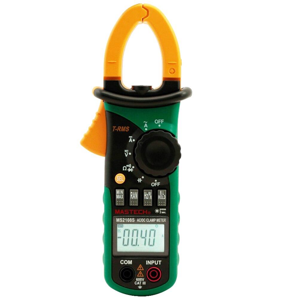 MASTECH MS2108S True RMS 6600 отсчетов Digital AC постоянного тока 600A клещи мультиметр Емкость Частота пусковой тестер