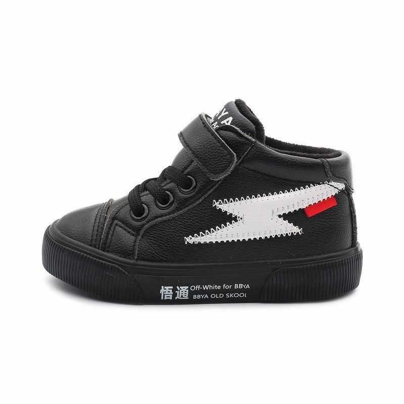 2018 冬の新子供たち女の子人工皮革ブーツ男の子防水ファッション冬の靴