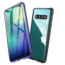Conelz do Samsung Galaxy S10 5G S9 S8 Plus S10e uwaga 9 uwaga 8 skrzynki pokrywa magnetyczny przód i tył etui ochronne telefon tylna sprawa