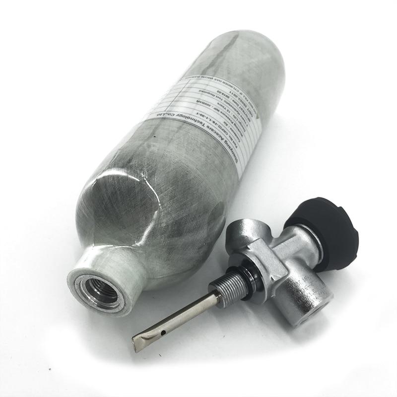 Ac30111 mini tanque de mergulho pcp válvula 1.1 paintball pcp tanque ar 4500psi rifle ar cilindro fibra carbono para mergulho pcp condor válvula
