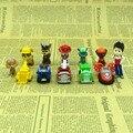 12 Pçs/set Pat Canino Cães de Patrulha Canina Ryder E Ação Car Figuras Patrulla Juguetes Patrulhamento Do Cão filhote de Cachorro de Brinquedo Brinquedos Modelo