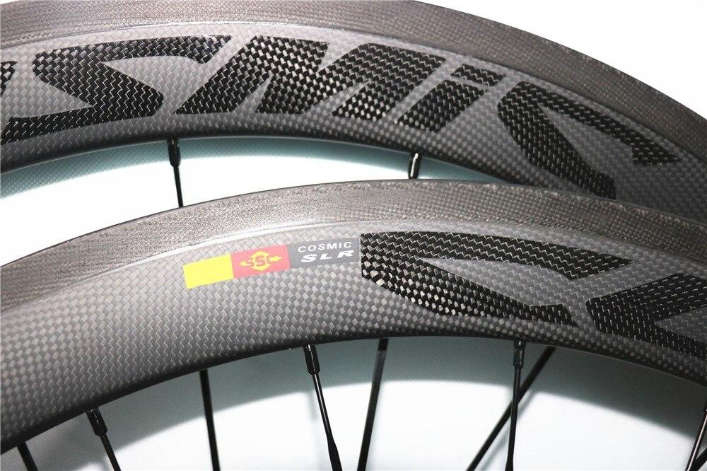 2019 meilleures ventes Ultra léger cosmique SLR carbone roues 700C 38/50mm pneu 23mm largeur Powerway R13 course vélo de route roues