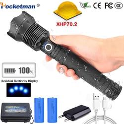 65000 Lumen Lampada XHP70.2 Più Potente Torcia Elettrica USB Zoom Ha Condotto La Torcia XHP70 XHP50 18650 o 26650 Batteria Best di Campeggio, outdoor