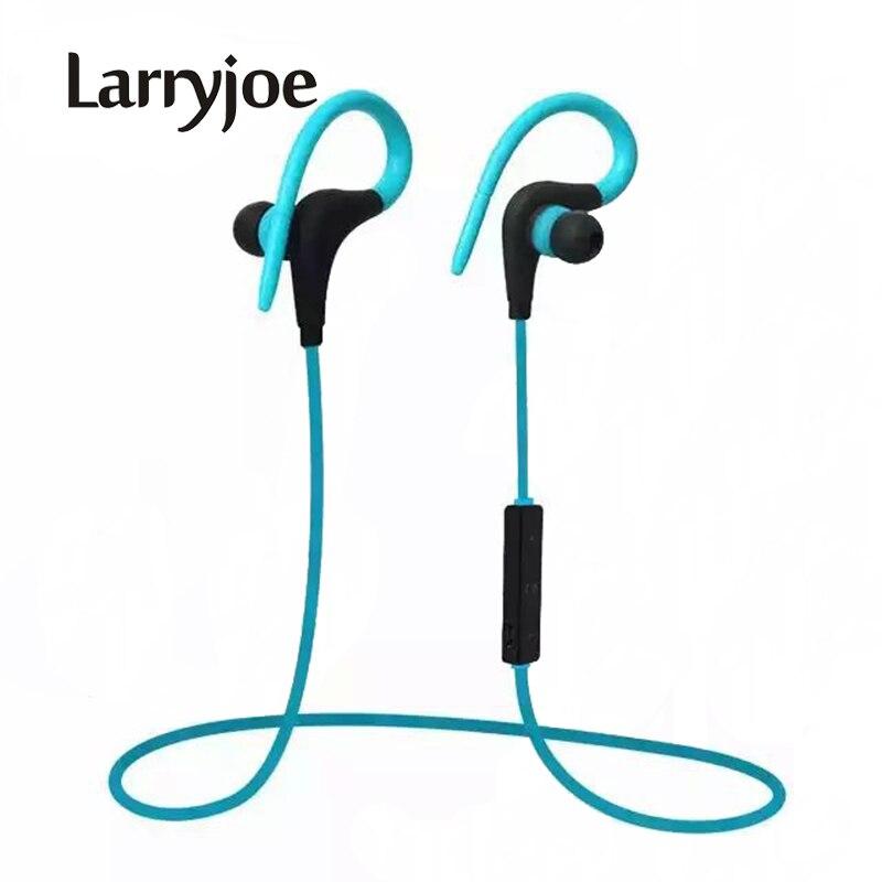 Larryjoe 2017 стерео Ушные крючки Bluetooth наушники Беспроводной спортивные наушники гарнитуры с micphone громкой связи для iphone Samsung