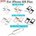 JCD Für iphone Nano SIM Karte Halter Tray Slot für iphone 8 8 Plus Ersatz Teil SIM Karte Karte Halter Adapter buchse für Apple|null|Handys & Telekommunikation -