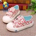 Babaya primavera marca de moda de nova chegada fresco floral low top planas de algodão escola canvas shoes meninas crianças crianças sapatilhas ocasionais