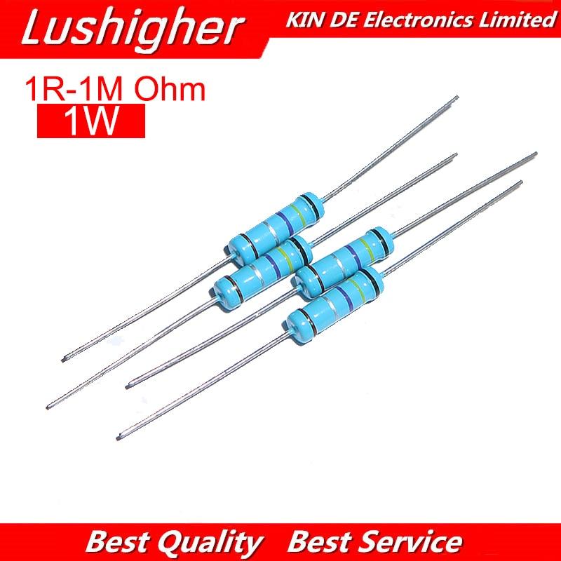 50Pcs 2W 2 Watt Metal Film Resistor ±1/% 1K 910 K Free Shipping 910K Ω Ohm 1 K