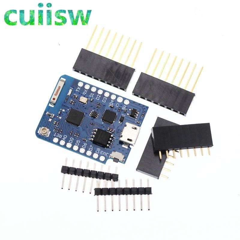 10PCS WeMos D1 Mini ESP8266 WIFI Module Board Pro 16M Bytes External Antenna Contor ESP8266 WIFI