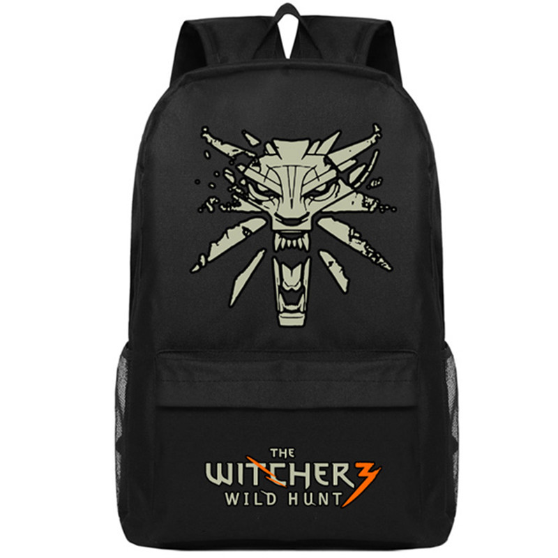 Game The Witcher Wild Hunt Backpack Mochila Feminina The Witcher3 Cool Cosplay Bookbag Boy Canvas School Bag A71701