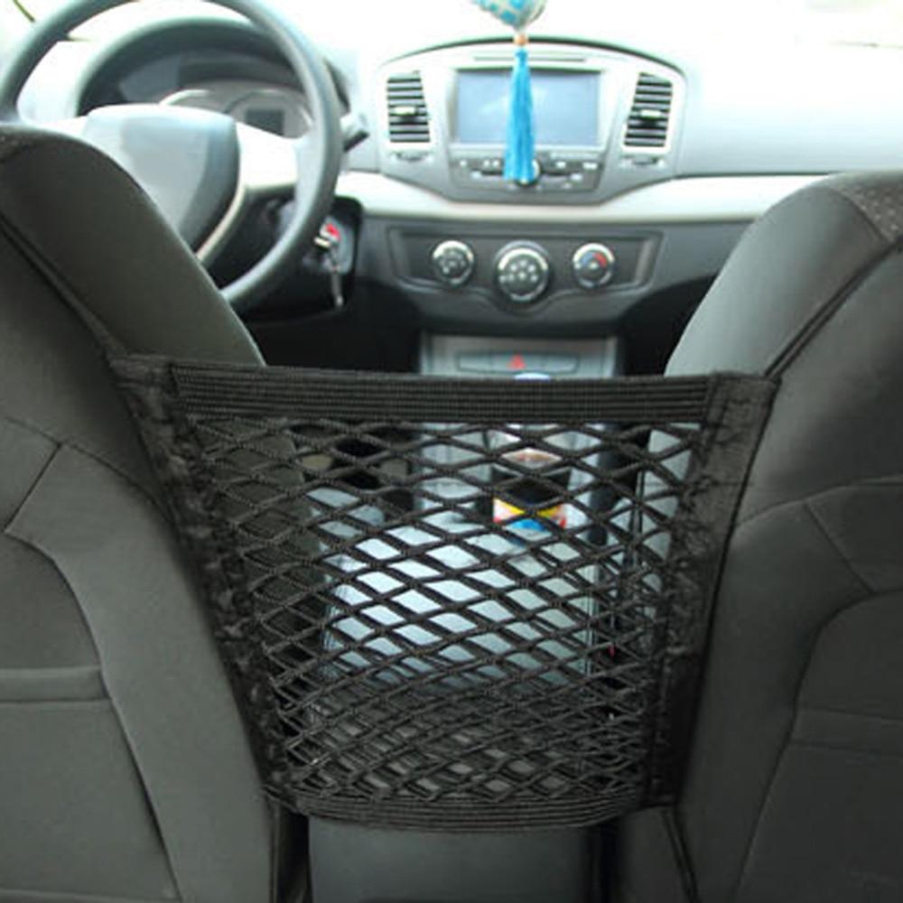 VODOOL Car Storage Net Auto Pocket Bagage Krokar Organizer Bil - Bil interiör tillbehör - Foto 3
