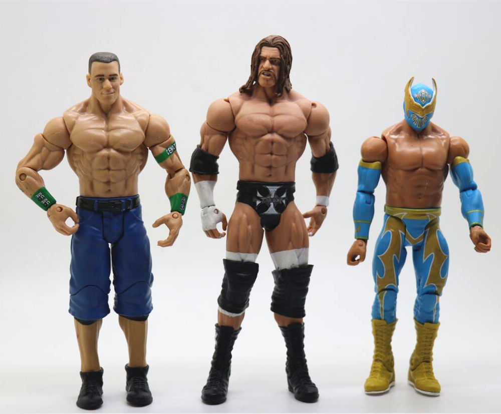 6PCS a set wrestler different characters 16-18cm High quality original occupation wrestling gladiators action figure Toys