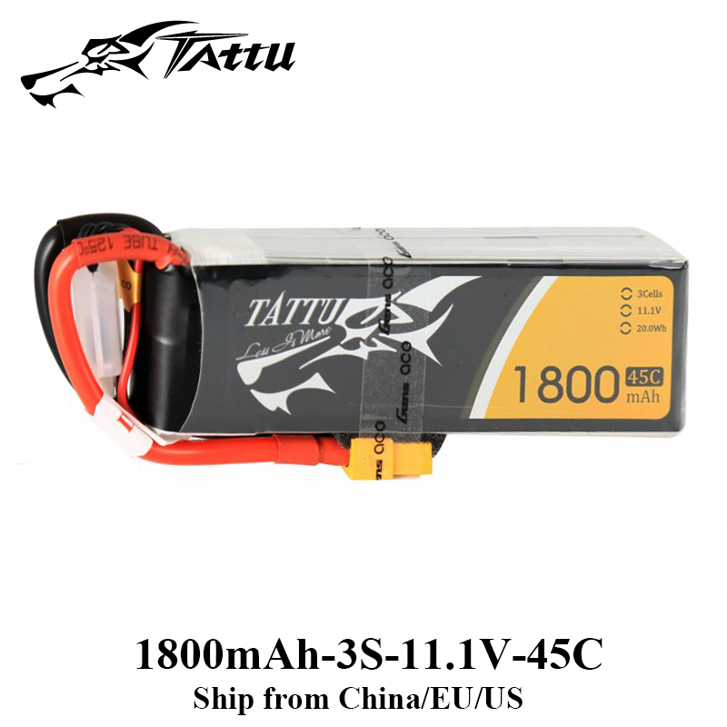 Tattu Lipo 3S 1800mAh 11.1V Lipo Battery 45C XT60 Plug RC Chargeable Battery Skylark M4 250 FPV Drone Frame RC Quadcopter цена и фото