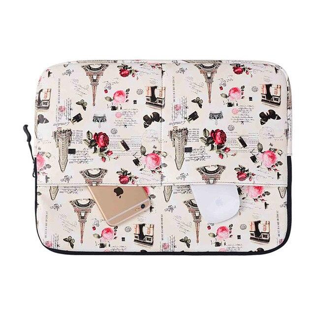 Ретро стиль париж эйфелева башня ноутбук рукав чехол для macbook air 13 pro сетчатки 13 ноутбука сумка для 13.3 дюймов планшет