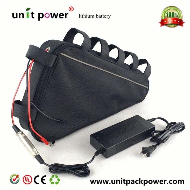 США ЕС AU нет налога 48 В 20ah Треугольники Батарея 48 В 1000 Вт Электрический велосипед Батарея включают Водонепроницаемый сумка С 54.6 В <font><b>2A</b></font> 3A Зарядно&#8230;