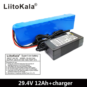 Image 2 - LiitoKala 7S4P 24V 12ah lithium batterie pack batterien für elektrische motor fahrrad ebike roller rollstuhl abschneider mit BMS