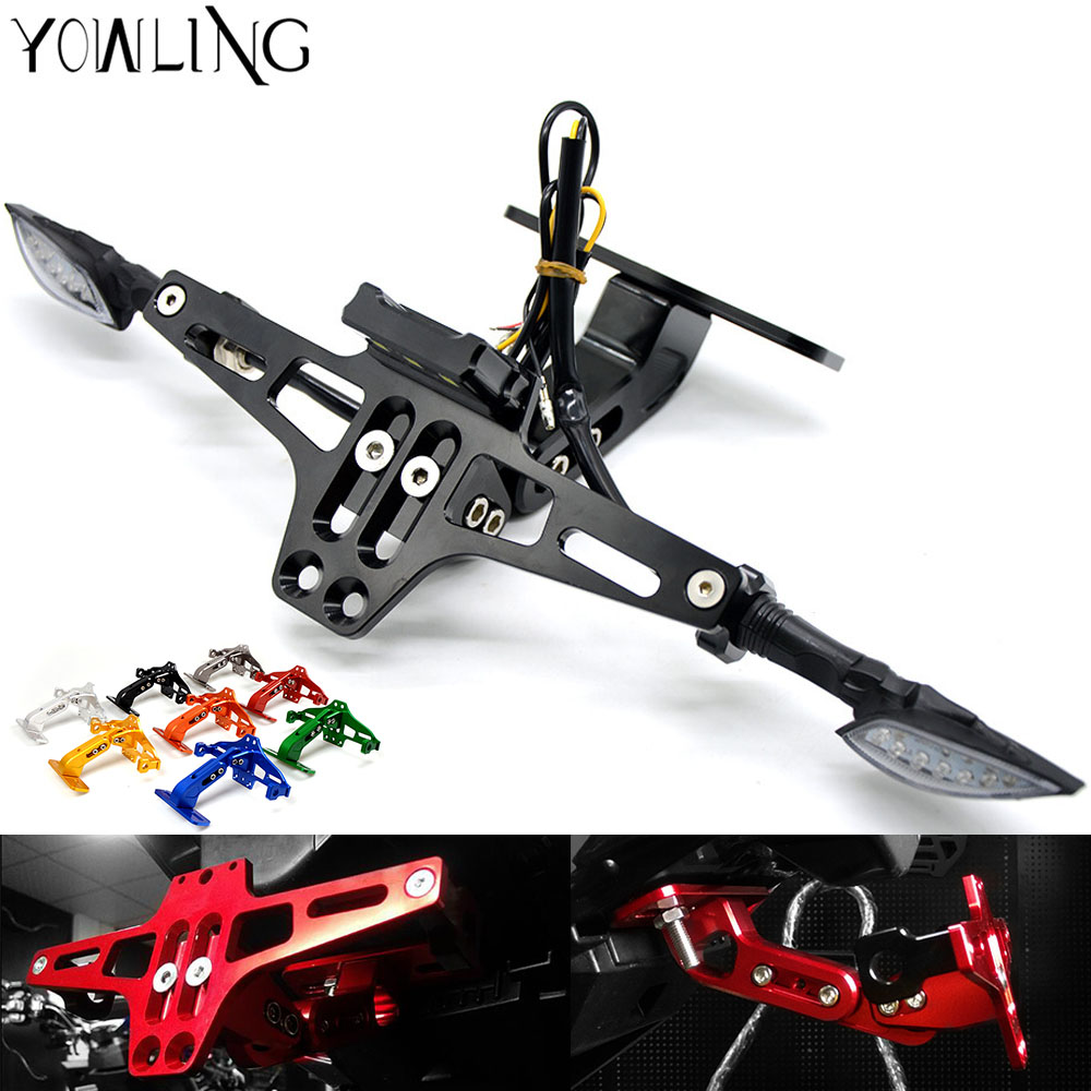 Motorcycle Adjustable Angle License Number Plate Frame Holder Bracket for CBR 600 F2,F3,F4,F4i CB919 CBR900RR VTX1300 NC700 S/X
