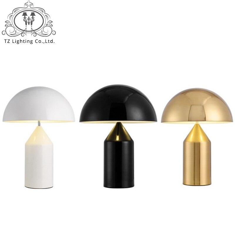 TZ Italy Modern Mushroom Table Lamp White Black Gold Table Lamp Light for Bedroom Living ...