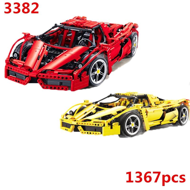 Oyuncaklar ve Hobi Ürünleri'ten Bloklar'de 8653 Teknik Formülü Hız Şampiyonları Racer Araba Modeli Yapı Taşları Şehir Avion MOC F1 Enzoed DECOOL 3382'da  Grup 1